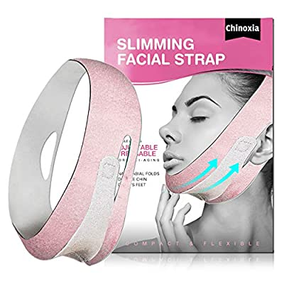 Slimming Strap for Face, Double Chin Reducer, V line face lifting belt for improving Sagging skin, Anti Wrinkle and firming skin by HOPESO