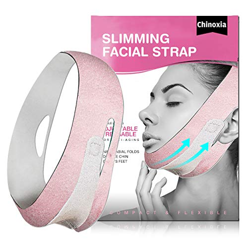 Double Chin Reducer, Face Slimming Strap, Chin Strap for Face, V line face lifting belt for improving Sagging skin, Anti Wrinkle and firming skin