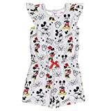 Disney Minnie Mouse Mickey Mouse Little Girls French Terry Ruffle Romper Gray 6-6X