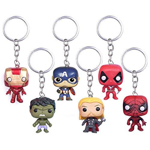 6Pcs Marvel Fans Llavero SuperHeroes The...
