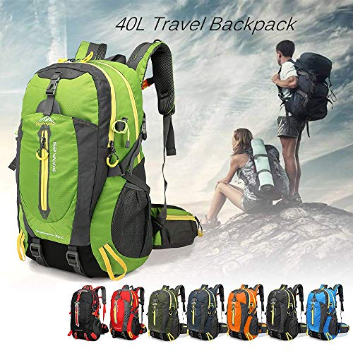 N\C 40L Water Resistant Travel Backpack Camp Hike Laptop Daypack Trekking Climb Back Bags for Men Women