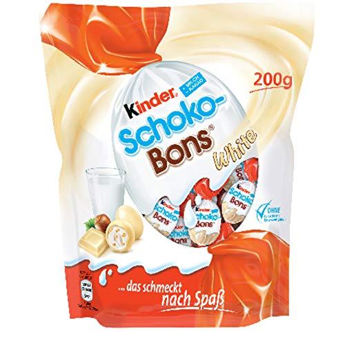 KINDER huevos schokobons white bolsa 200 gr
