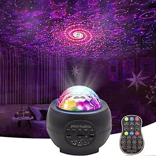 Proiettore Stelle,Nebula Lampada Proiettores, Luci Notturna LED, 27 Modalità Lampada Musicale Cielo Stellato con Telecomando, Bluetooth, Altoparlante,Timer