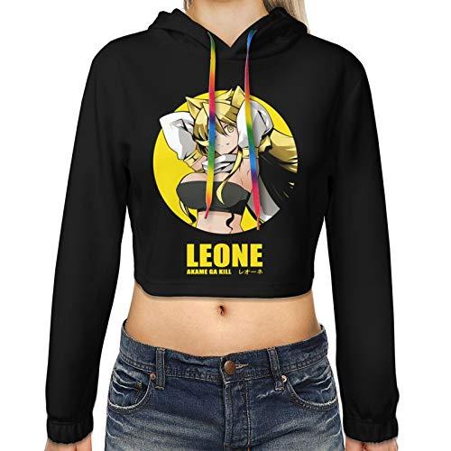 KJAHS Sudadera con capucha para mujer con estampado de anime en 3D Akame Ga Kill Leone
