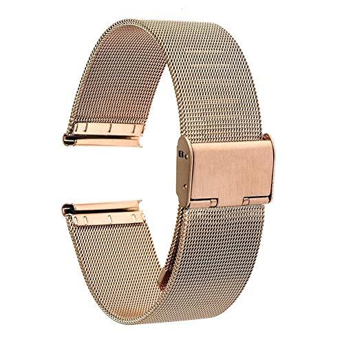 BGTJN Correa de Reloj Universal de Correa 16 mm 18 mm 20 mm 22 mm 24 mm de Malla de Acero Inoxidable Reloj de Correa de la Venda Enlace Pulsera Negro de Oro Rosa de Plata Relojes Correas