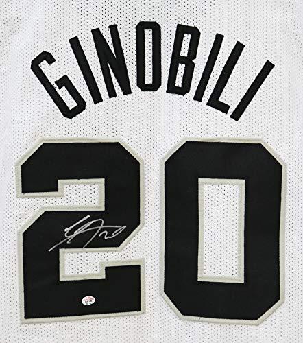 Manu Ginobili San Antonio Spurs Signed Autographed White #20 Custom Jersey PAAS COA