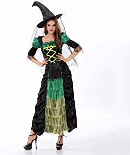 Fashion-Cos1 Halloween Witch Costumes Christmas Carnival Clothing Fantasia Infantil Adult Women Vampire Cosplay Party Dress