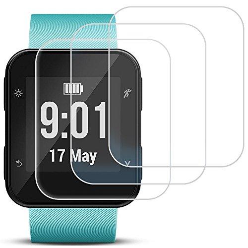 Screen Protector für Garmin Forerunner 35, AFUNTA 3 Pack gehärtetes Glas Film Anti-Scratch High Definition Full Coverage Cover für Smartwatch