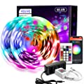 65.6ft WiFi LED Strip Lights,VOLIVO Smart LED Light Strip Works with Alexa and Google Home,App&Remote&Voice Controlled Music Sync Color Changing RGB 5050 LED Lights for Bedroom Kitchen,Party,TV