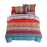 Shamdon Home Collection Juego de funda de edredón de 3 piezas estilo bohemio que incluye funda de edredón y fundas de almohada, diseño 2, Double(200x200 cm)-fit for 135cm bed
