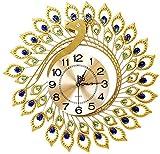 Reloj de Pared Reloj de Pared Relojes Living Silence Reloj de Pavo Real Letras Decorativas para el hogar, S