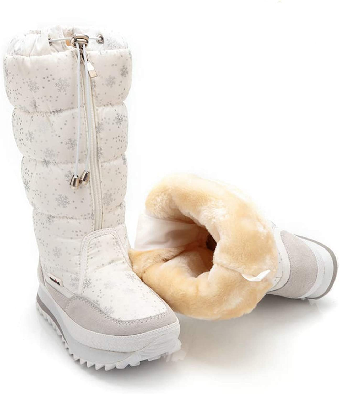 f80b337a8dae4 Women's Boots,White-39EU Snow Warm Lined Fur Soles Thick Boots ...