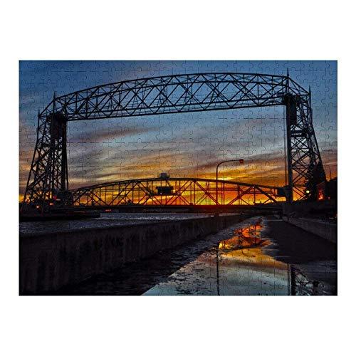 Hunnry Aerial Lift Bridge Duluth Minnesota Rompecabezas de 1000 Piezas para Adultos y familias, Rompecabezas clásico con Motivos Finos, colección de Arte, 50 x 75 cm