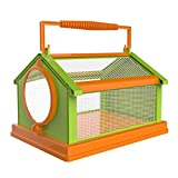 Silklove Portable Insect Box, Outdoor Breathable Bug Catchers and Observation Cage, Nature Exploration Observation Toys Critter Cage for Kids (Green)