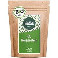proteína de arroz orgánica 80% de proteína (1kg) - fuente de proteína vegana - sin aditivos - libre de gluten, soja y lactosa - de primera calidad orgánica - embotellado y controlado en Alemania