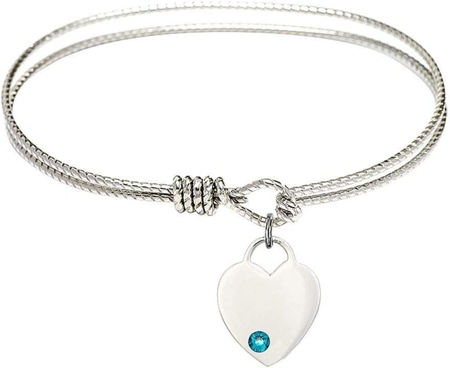 Limited Special Price RIF Store Silv-r Tone Bangle with H Bracelet December Ranking TOP9 Birthstone