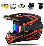NJYBF Casco Professionale Da Motocross, Casco Da Downhill, Integrale Mtb, Casco Integrale Da Motocross Per Adulti E Bambini (L (56-57 cm))
