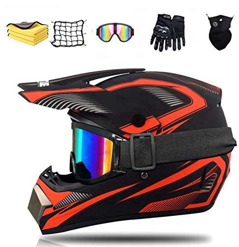NJYBF Casco Professionale Da Motocross, Casco Da Downhill, Integrale Mtb, Casco Integrale Da Motocross Per Adulti E Bambini (S (52-53 cm))