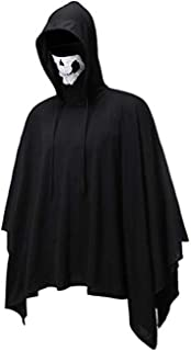 Leomodo Halloween Skull Mask Pullover Hooded Cloak