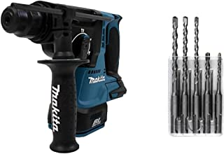 Makita DHR242Z 18V LXT Brushless 24mm Rotary Hammer SDS-Plus - Batteries and Charger Not Included & D-03888 5 Piece Standa...