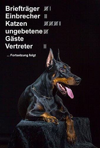Melis Folienwerkstatt Schild Warnschild Achtung Dobermann – Briefträger Einbrecher Katzen ungebetene Gäste Vertreter - Hund Hundeschild 30x20cm Hartschaum Aluverbund -S25L