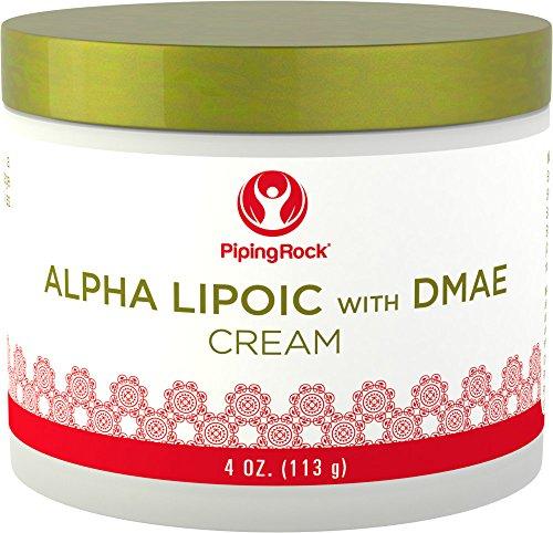 Alpha Lipoic with DMAE Cream 4 oz Jar by Piping Rock Health Products