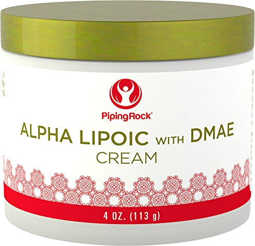 Alpha Lipoic with DMAE Cream 4 oz Jar by Piping Rock Health Products