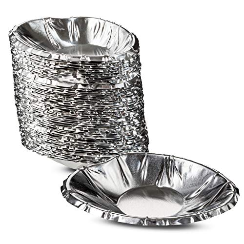 Disposable Aluminum Foil Clam Shells Great For Baking And Serving All Types of Clam Pies Quality Material by MT Products - (50 Pieces)