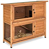 Best Choice Products 48x41in 2-Story Outdoor Wooden Pet...