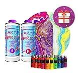 Art Pro Resina Transparente para Artistas DE 1,6 KG + Kit DE 10 PIGMENTOS...