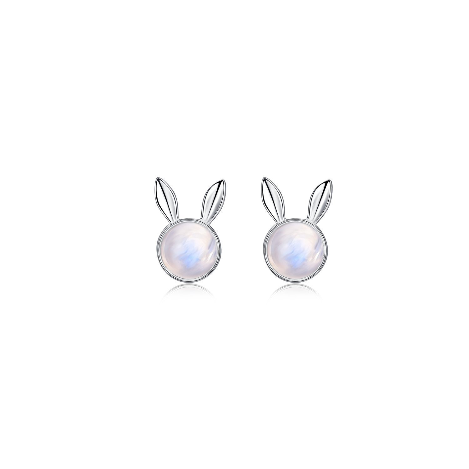 Dream Catcher Earrings Sterling Low price Moonstone Rabbit Max 68% OFF Silver Bunny