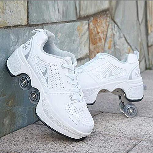 nnn Kinderskateboardschoenen, kinderschoenen, sportschoenen, skateboard met wieltjes, skateboardschoenen, sneakers, wieltjes, inline rolschaatsen, outdoor fitnessschoenen, jongens meisjes