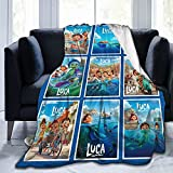 Super Soft Blanket Flannel Fleece Throw Blankets Soft Cozy Fuzzy Sea Monsters Bedding for Kids Adult Gifts 50'x40'