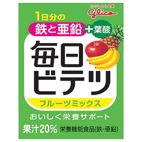 江崎グリコ 毎日ビテツ フルーツミックス 100ml紙パック×15本入×(2ケース)