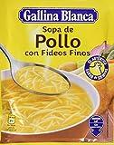 Gallina Blanca - Sopa deshidratada de pollo con fideos finos - 71 g - [pack de 6]