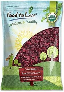 Organic Dried Cranberries, 10 Pounds — Non-GMO, Kosher, Unsulfured, Bulk