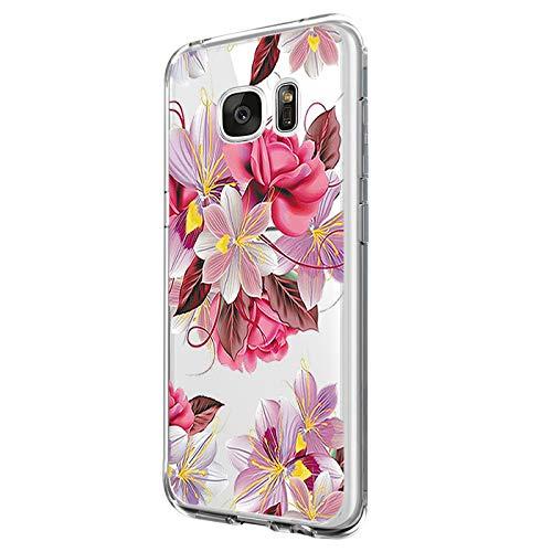 Pacyer - Carcasa para Galaxy S6 Edge Plus, de silicona y poliuretano termoplástico, transparente, ultrafina, protección completa, antiarañazos, color rosa 3 Talla única