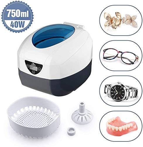 Ultraschallreiniger Ultraschallreinigungsgerät, Uten 750ml Ultraschallgerät Gebissreiniger Digital Ultrasonic Cleaner für Sonnenbrille, Schmuck, Münzen, Rasierer, Zahnprothesen