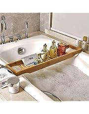 バスタブトレー テーブル 浴室 竹製 ラック 収納 バスタブラック バステーブル お風呂用 バスグッズ 15.5x70cm