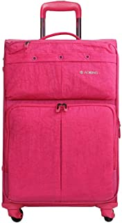 Universal Wheel Trolley Case Women's Suitcase, Oxford Cloth Travel Trip to The Chassis 20 Inch (Color : Pink, Size : 20-inch)