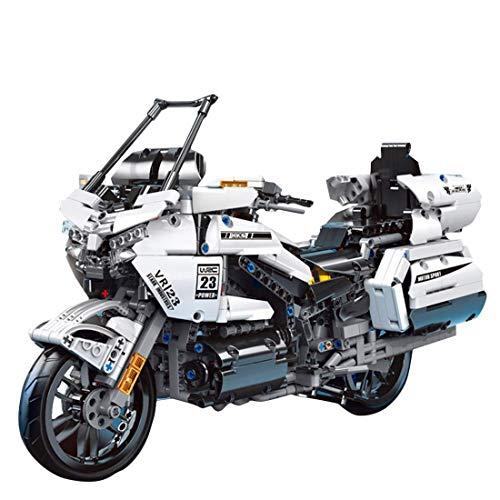 CYGG Kit de construcción de Motos Technic, 1328 + PCS Bloques de construcción de Motocicletas Pesadas Modelo de Pantalla Superbike para Adultos, niños compatibles con Lego