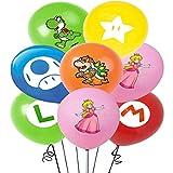 Pack 14 Globos Super Mario Miotlsy-Decoración con temática de Super Mario para Favores Regalo Carnaval Boda Fiestas y cumpleaños,Ideal para Decorar Tus Fiestas