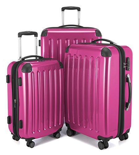 Hauptstandtkoffer Set di valigie, 75 cm, 235 L, Rosa