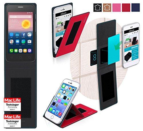 Hülle für Alcatel OneTouch Pixi First Tasche Cover Hülle Bumper | Rot | Testsieger