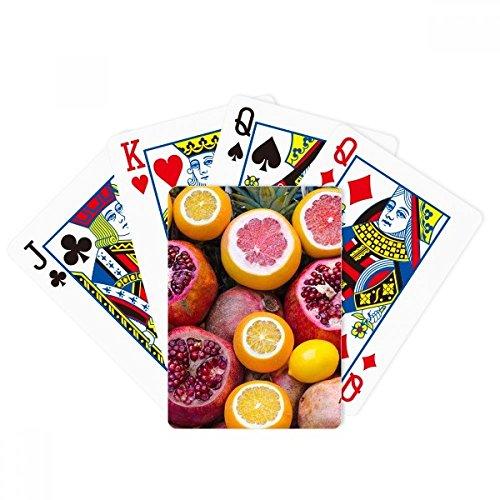 Juego de mesa de la diversión de la tarjeta mágica de la naturaleza de la fruta tropical fresca