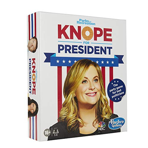 Hasbro Gaming Knope for President Party Card Game, for Parks and Recreation Fans, with Themes and Characters from The Hit TV Show, Game for Ages 16 and Up