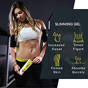 Hot Shapers Slimming Gel –Sweat Cream for Firming and Workout Muscle Recovery – Skin Tightening Lotion for the Body and Tummy Tuck