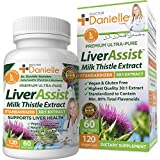 Best Liver Supplements with Milk Thistle - Organic Liver Cleanse Detox & Cleanse - Liver Support for Men and Women - Liver Detox Cleanse Repair - 120 Capsules by Dr. Danielle