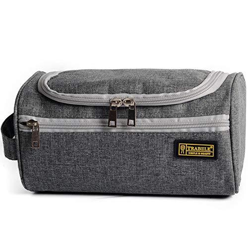 Travel Cosmetic Organizer Bag Wash Bag Men's Business Travel Portable Toiletries Set Shampoo Bath Bath Hanging Bags B-Gray