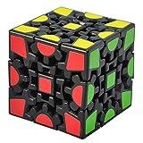 TOYESS Cubo Engranajes,3D Puzzle Gear Cube 3x3x3 Rompecabezas Cubo de Velocidad Regalo de Adulto para Niños,Negro